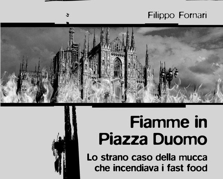 Fiamme in piazza Duomo